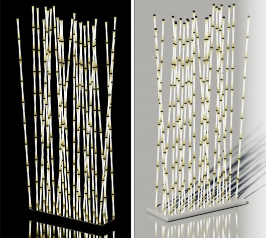 bamboo light 02 Creative Room Dividers for Space Saving