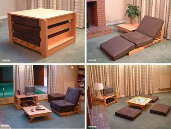 Multifunctional furniture - Recliner for small spaces property ...