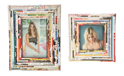 use old magazines to old frames can be wrapped easily