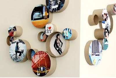round cardboard frame easy to make and it changes the look