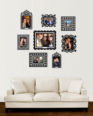 these sticker frames look elegant and trendy at same time