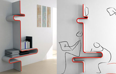 Creative Shelving Creative Wall Designs