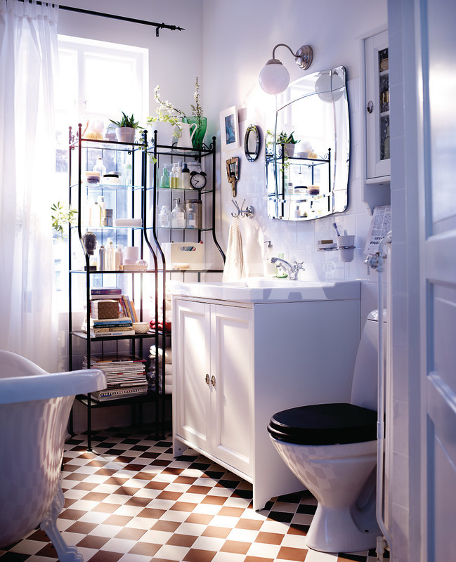 White-IKEA-bathroom