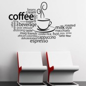 Creative Wall Designs for Coffee Shops/Cafe'