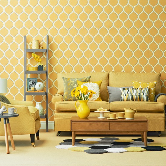 Yellow living room designs Yellow room design ideas