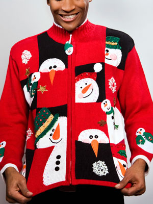 Inspire guests to make their party sweaters with all the Christmas memories