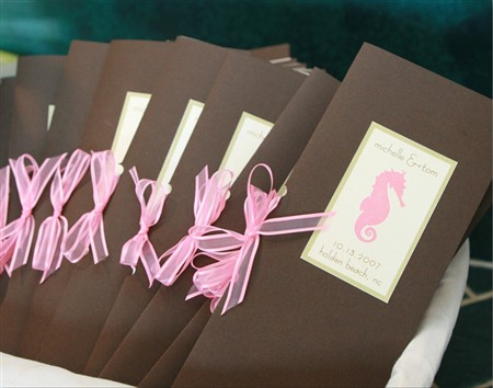 Brown & Pink Wedding Invite
