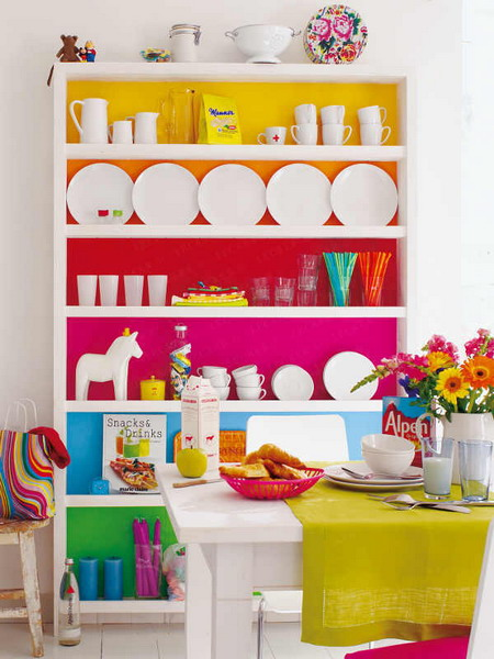 Colored Cabinet 2 Creative Ideas to Bright Up your Dining Room