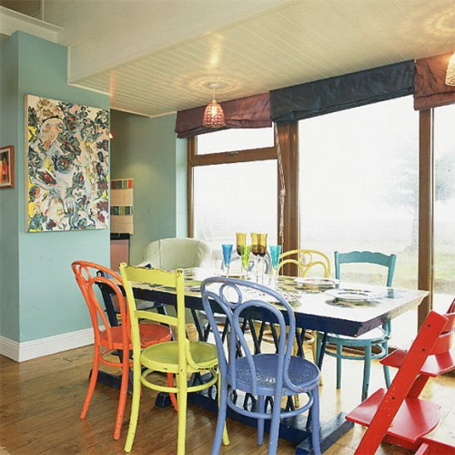 Colored Chairs 1 Creative Ideas to Bright Up your Dining Room