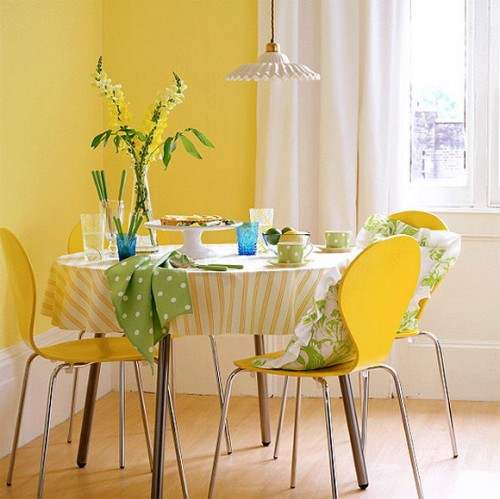 Colored Walls 1 Creative Ideas to Bright Up your Dining Room