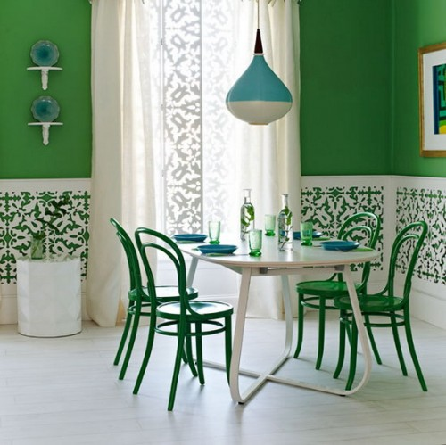 Colored Walls 2 Creative Ideas to Bright Up your Dining Room
