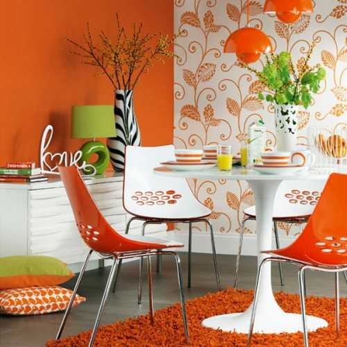 Colored Walls 4 Creative Ideas to Bright Up your Dining Room