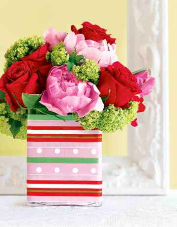 Ribbon Vase 10 Cool Spring Centerpieces