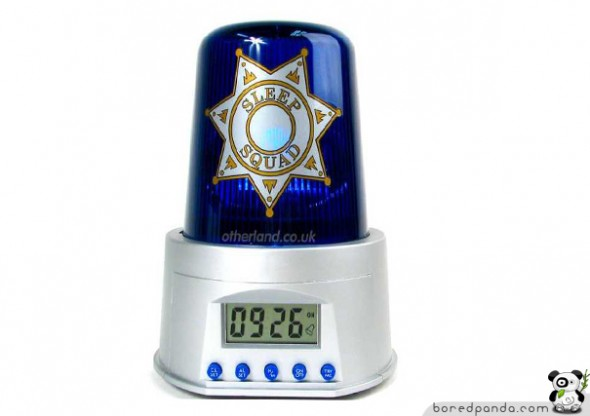 Alarm Clocks Police 590x416 Cool Alarm Clock Ideas