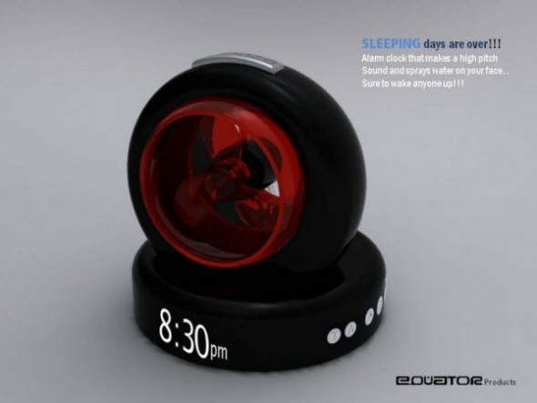 Amazing Alarm Clocks - Water Spray Alarm Clock