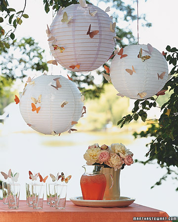 Butterflies Lighting Ideas for Outdoor Weddings