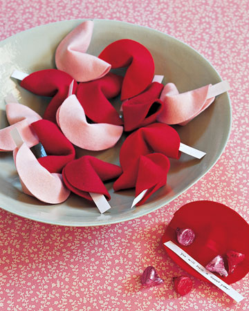 Felt Fortune Cookies Valentines Day Craft Ideas