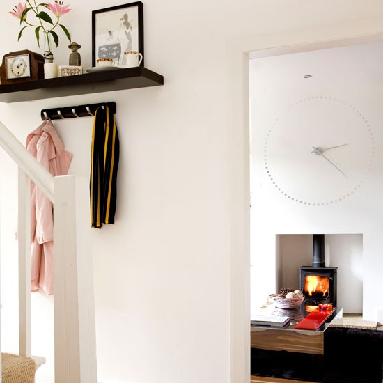 Floating Shelves Hallway Design Ideas