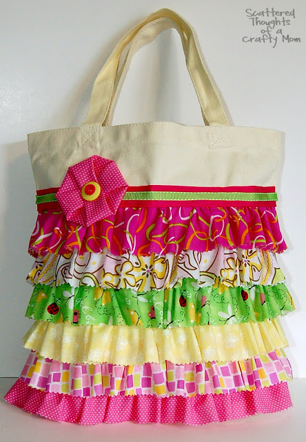 Ruffled Canvas Tote 1