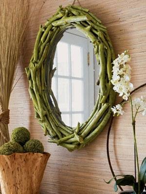 Twig Mirror 10 Creative Mirror Frame Ideas   DIY
