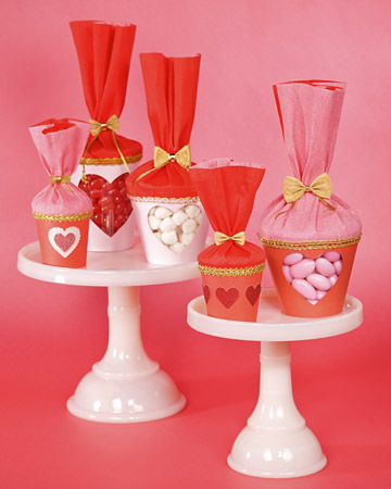 Valentine Treat Cups Valentines Day Craft Ideas