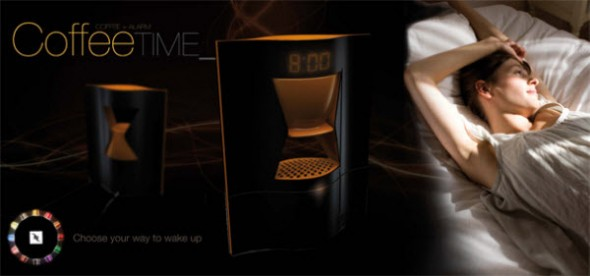 coffee time alarm clock 590x276 Cool Alarm Clock Ideas