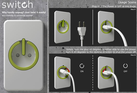 25 modern and creative electrical outlets and switches for Modern electrical switches and sockets