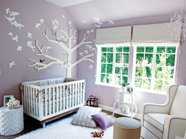 Baby girl nursery decoration ideas for Baby nursery mural