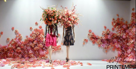 Printemps Paris Spring Window Display Living Impressive