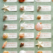 DIY Escort Cards for Wedding and Reception