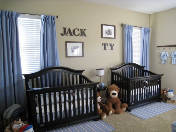 Twin boys nursery living impressive - Bedroom design for baby boy ...