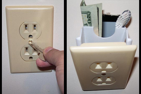 Hidden Wall Safe Electrical Outlet
