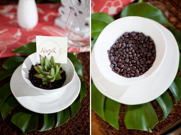 Decorate with Coffee Beans