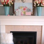 Spring Decoration- Mantle