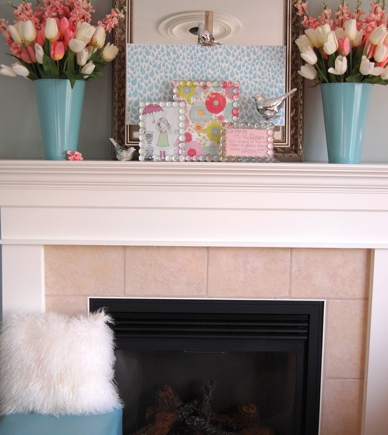 Decorating Ideas > Spring Decoration Mantle ~ 125534_Fireplace Mantel Decorating Ideas For Spring