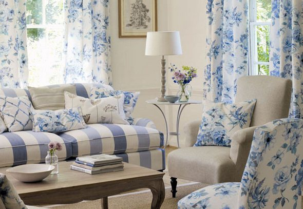 Living Rooms Floral Patterns