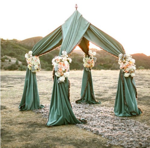 Wedding Altar Curtains: Outdoor Weddings- Alternative Altars