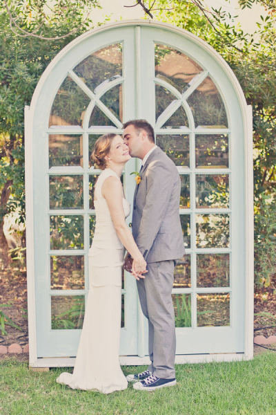 A pair of standing doors perfectly sets the ceremony scene, and the type of doors can make a major statement.