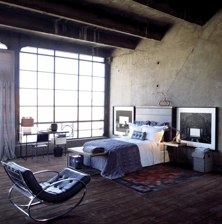 Industrial chic room designs for Bedroom ideas industrial