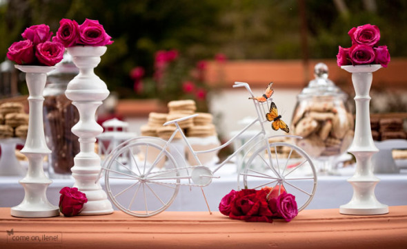 Bike Wedding Decorations 1 590x362 Theme Weddings   Bike Themed Wedding