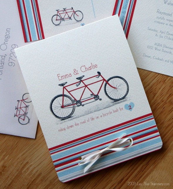 Bike Wedding Invitation 590x646 Theme Weddings   Bike Themed Wedding