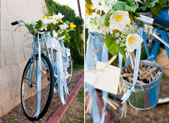 Bike Wedding Prop 590x430 Theme Weddings   Bike Themed Wedding