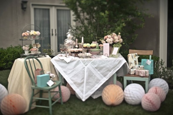 Victorian era garden style wedding shower/ parties