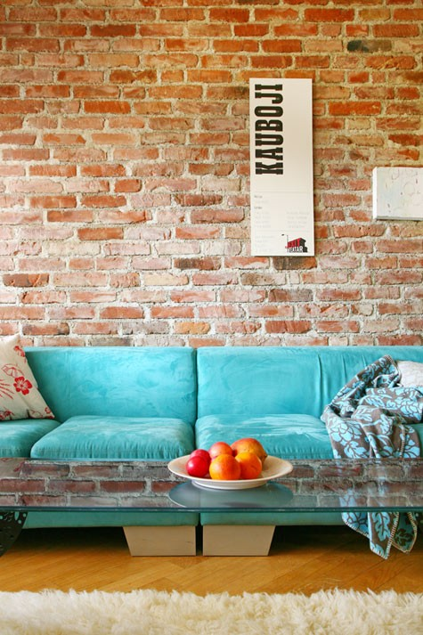 Designer living rooms exposed brick walls for Living room ideas exposed brick