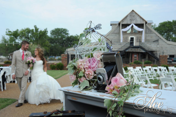 floating dresses, camper vans, ribbons and flowers used in decoration