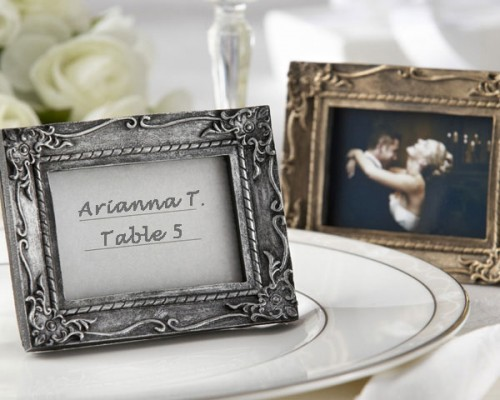 Vintage theme decor for wedding- antique photo frames