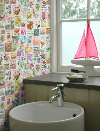 You Can Make The Space Look Bigger By Using Similar Kind Or Matching  Wallpapers In Rooms Adjacent To The Bathroom, Choose Same Color But  Different Prints Or ...