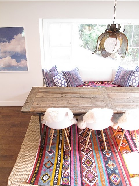 Bohemian style dining rooms for Dining room ideas eames