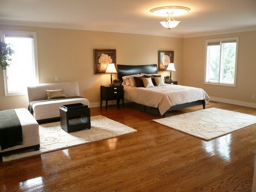 Flooring ideas for bedrooms hardwood flooring bedroom for Master bedroom flooring ideas