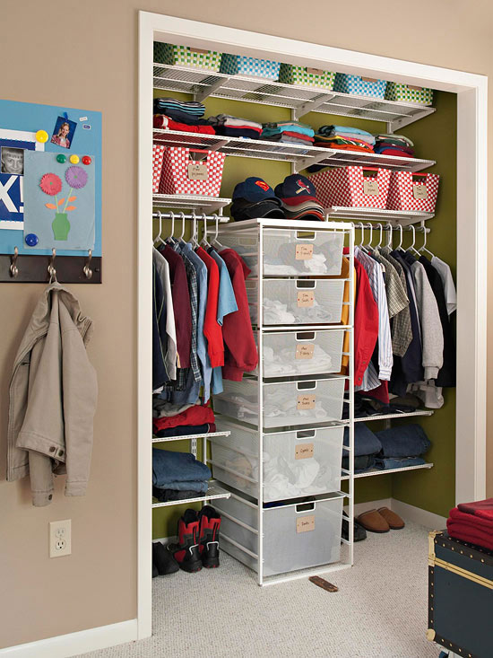 Feb 23,  · When kids share a closet, strategic kids' closet organizer ideas can keep peace. The symmetrical layout in this closet gives each boy a custom storage area. Racks on either side of a center unit make it easy for each kiddo to get their belongings. Big, bold labels designate ownership of each drawer in the shared center migom-zaim.ga: Better Homes & Gardens.